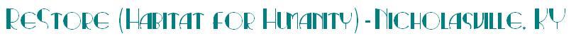 Nicholasville, KY  Habitat for Humanity Logo